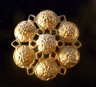 Vintage ' Fashion Rite ' Brooch By Sarah Coventry